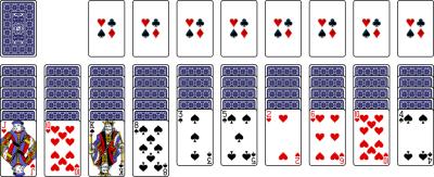 freecell kabal two decks