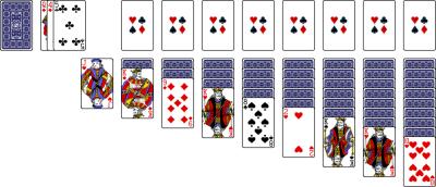 World Of Solitaire Klondike Turn One 1 Green Felt Play Free Card
