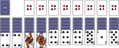 how to win spider solitaire 2 suits