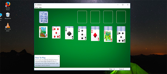 Play solitaire card game free online